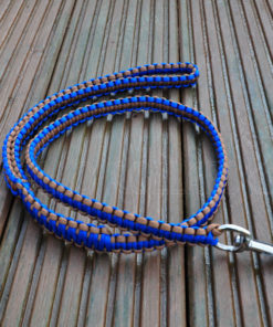 Apollo Collars Paracord Lead Blue/Coyote Brown