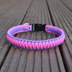King cobra Paracord collar (Neon pink/Bright purple)