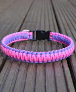 King cobra Paracord collar (Neon pink/Bright purple)