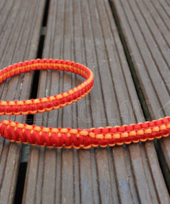Paracord 1m long lead (Red/Orange yellow)